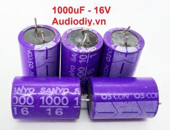 Tụ Sanyo 1000uF 16V tháo