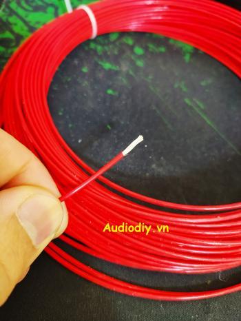 Dây Teflon mạ bạc 1mm đỏ